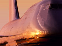 Boeing 747-400 Sunset
